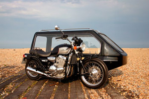 Alternative vehicle - bike with sidecar