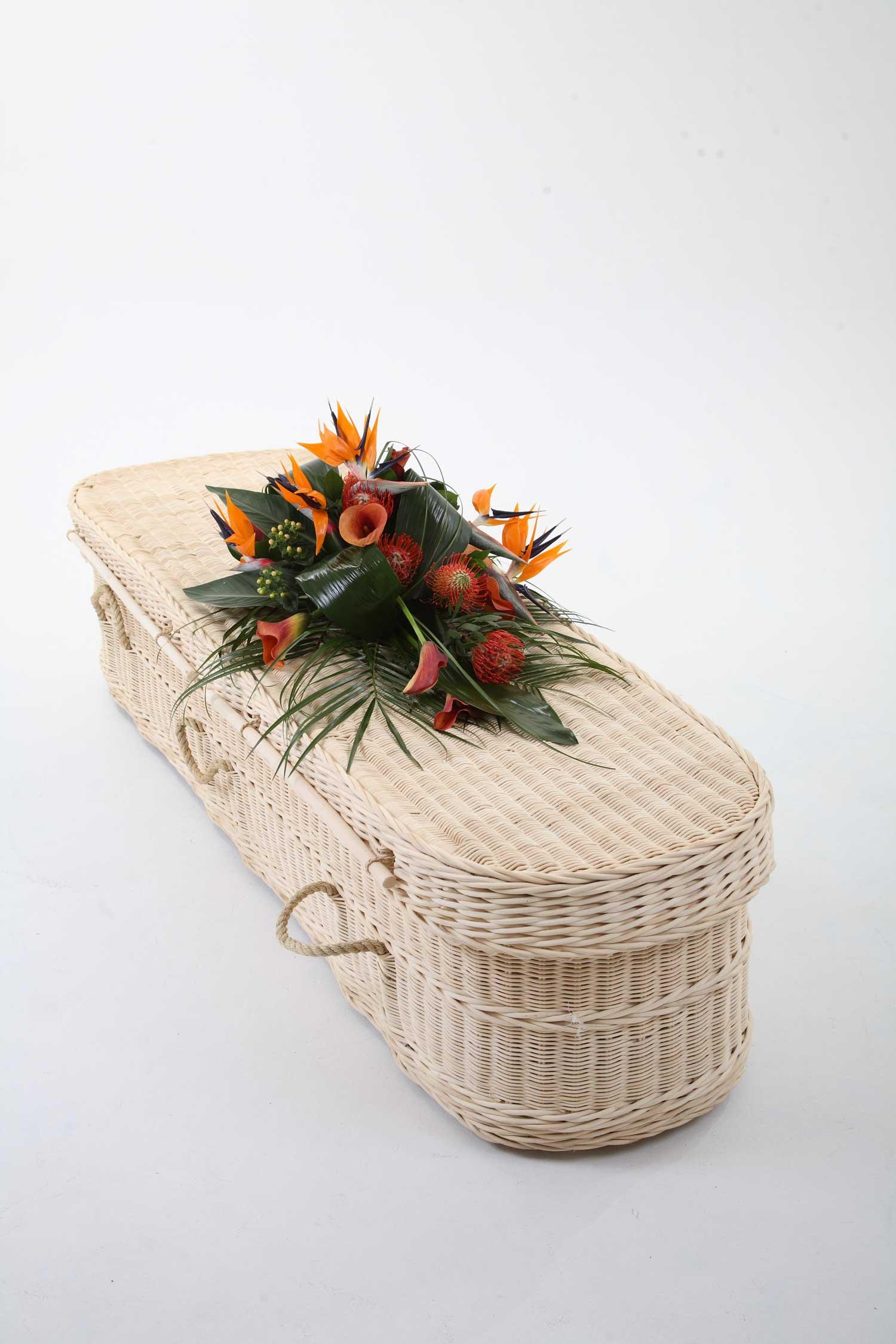 A cane coffin