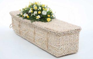 A banana leaf coffin