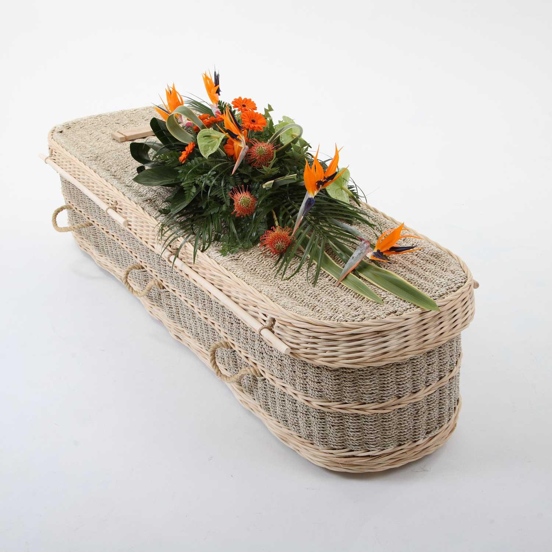 A seagrass coffin