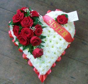 Heart floral arrangement
